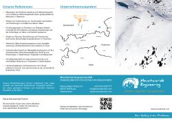 Mountainrisk Engineering - Unternehmensbroschüre